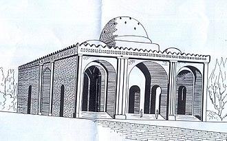 Sarvestan Palace - Reconstructional drawing of the Sarvestan Palace