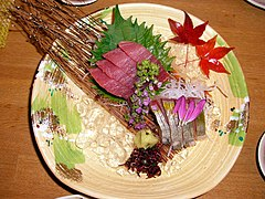 Sashimi; Japanses very fresh raw seafood.jpg