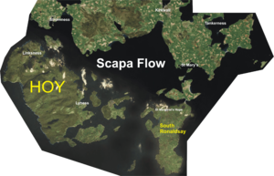 Aerial Photo Map of Scapa Flow