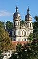 Schöntal - Kloster - Klosterkirche - Fassade über die Jagst gesehen 3.jpg