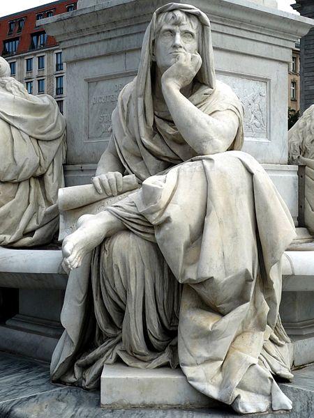 File:Schillerdenkmal Berlin, Begas, Allegorie Philosophie.jpg