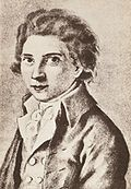 Friedrich Schlegel among 1790 by Caroline Rehberg