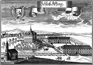 Affing House - Image: Schloss Affing Michael Wening 1