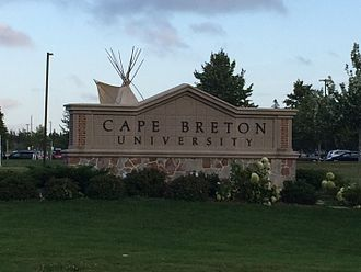 Cape Breton University - The main sign for the university, located out in front of the Culture and Heritage Centre.