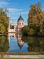 Schwetzingen - Schlossgarten - Moschee - Ansicht über den Moscheeweiher im Herbst 2.jpg