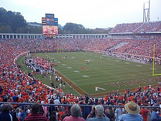 Scott Stadium football stadium at the University of Virginia