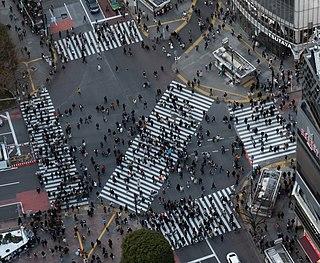Pedestrian scramble Traffic management concept