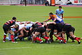 Scrum during Aviron bayonnais vs Stade toulousain.jpg