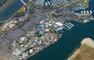 SeaWorld San Diego - Aerial photo of the park.