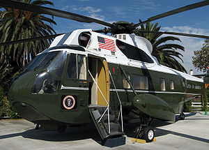 "Richard Nixon Presidential Library and Museum - The President's VH-3A ""Sea King"" helicopter is on permanent display."