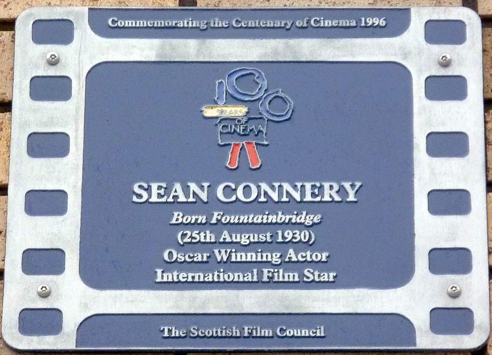 Sean Connery plaque, Fountainbridge Edinburgh
