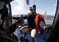 Search and Rescue Swimmer Aviation Warfare Systems Operator 3rd Class Justin Sherman receives a thumbs up from Aviation Warfare Systems Operator 1st Class Ken 080422-N-7981E-274.jpg