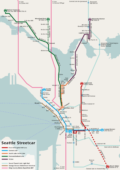 Seattle Streetcar Network  Wikipedia The Free Encyclopedia