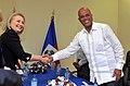 Secretary Clinton Shakes Hands With Haitian President Martelly (8122257644).jpg