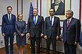Secretary Pompeo, Secretary Mnuchin, Secretary Nielsen and Advisor Kushner With Mexican President- Elect López Obrador (42676140144).jpg