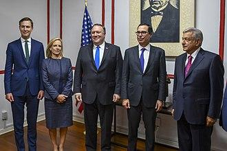 Steven Mnuchin - Mnuchin, Secretary Pompeo Secretary Nielsen and Advisor Kushner with Mexican President- Elect López Obrador, July 13, 2018