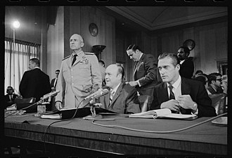 Melvin Laird - Secretary Laird (center) before the Senate Foreign Relations Committee in 1970