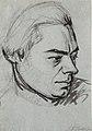 Self-Portrait by Johann Gottlieb Prestel, chalk, brush and ink.jpg