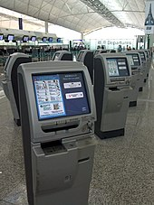 Self-check-in kiosks