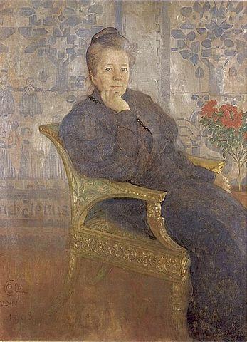 Сельма Лагерлёф, портрет Карла Ларссона, 1908