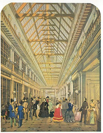 Passage (department store) - The interior of the old Passage in the 1850s.