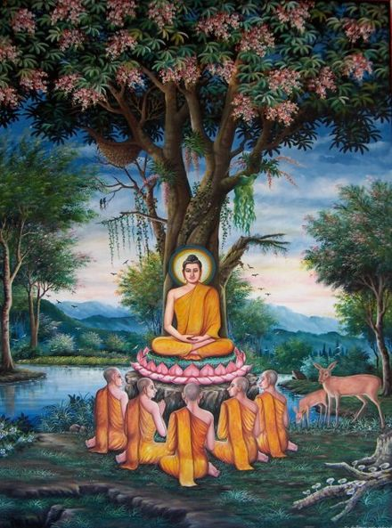 Sermon in the Deer Park depicted at Wat Chedi Liem-Kay Sermon in the Deer Park depicted at Wat Chedi Liem-KayEss-1.jpeg