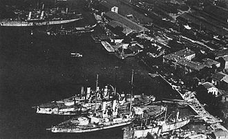 Crimea Operation (1918) - Ukrainian warships in the port of Sevastopol, 1918