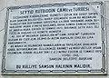 Seyyid Kutbiddin Camii ve Türbesi kitabesi (cropped).jpg