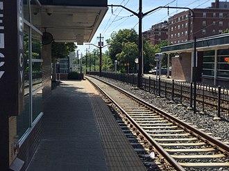 Shaker Square station - Image: Shaker Square station sign (3)