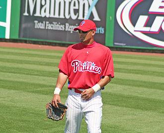 Shane Victorino - Victorino at Bright House Field.