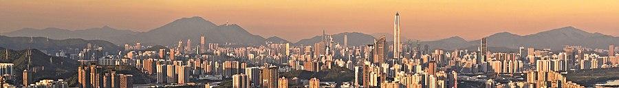 Light shenzhen area red Shenzhen Nightlife