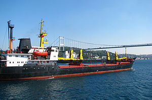 Ships under Second Bosphorus Bridge (September 2011)