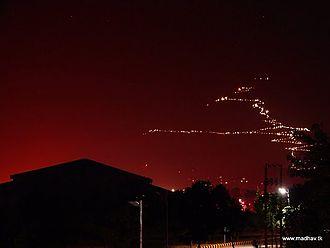 Shri Mata Vaishno Devi University - View of Mata Vaishno Devi University from campus in night