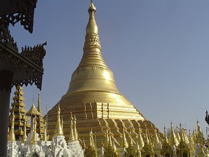 Burmese pagoda - Shwedagon Pagoda in Yangon is Myanmar's most prominent zedi.