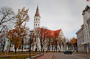 Cathedral of Saints Peter and Paul, Šiauliai - Image: Siauliu katedra is sono 2009