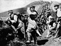 Siege of Tsingtao, soldiers of IJA 18th division took over german trench Kopie.jpg