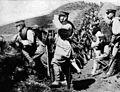 Siege of Tsingtao, soldiers of IJA 18th division took over german trench Kopie.jpg