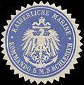 Siegelmarke K. Marine Kommando S.M.S. Schlesien W0357673.jpg