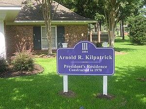 Arnold R. Kilpatrick - Arnold R. Kilpatrick sign at NSU President's Home