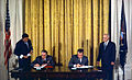 Signing ceremony for the Scientific and Technical Cooperation Agreement in the Field of Peaceful Uses of Atomic Energy-1973-adjusted.jpg