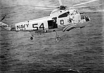 Sikorsky SH-3D Sea King of HS-3 recovers Apollo 9 astronaut James McDivitt on 13 March 1969 (S69-27469).jpg