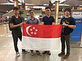 Singapore Armwrestling Team at Changi Airport.jpg