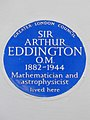 Sir Arthur EDDINGTON O.M. 1882-1944 Mathematician and Astrophysicist lived here.jpg