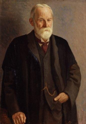 Sir George Howard Darwin by Mark Gertler 1912