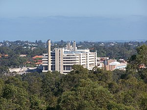 Sir Gairdner Hospital viewed from the DNA towe...