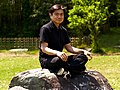 Sitting on my meditation rock.jpg