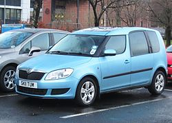 Skoda Roomster 1598cc diesel registered March 2011.JPG