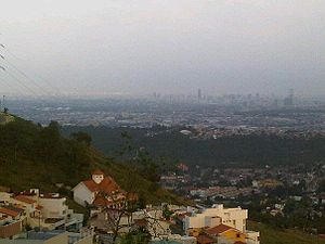 Naucalpan - Landscape of Mexico City seen from Pedregal de Echegaray