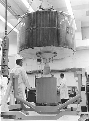 Skynet (satellite) - A Skynet II satellite is packed for shipment at a contractor's facility. (USAF photo)