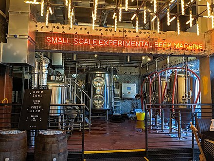 BrewDog named their microbrewery in Manchester the Small Scale Experimental Beer Machine in honour of the Small-Scale Experimental Machine (SSEM) Small Scale Experimental Beer Machine Manchester Brewdog.jpg